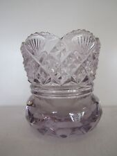 EAPG SUN PURPLE SAWTOOTH RIM SPLIT DIAMOND in DIAMOND & FAN TOOTHPICK HOLDER