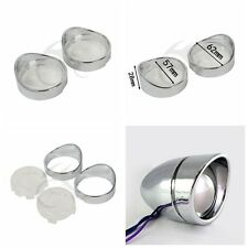Motorbike Clear Turn Signal Lens + Visor Ring For Harley Dyna Softail Sportsters