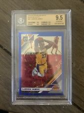 2019-20 Panini Donruss Optic #60 LEBRON JAMES Blue Velocity Holo Prizm BGS 9.5