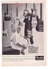 "Vintage Fender Guitars ""Choice Of Student and Pro's""  Print Advertisement"