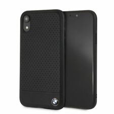 BMW Perforated iPhone XR SCHUTZHÜLLE Back Case Cover Schwarz