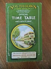 More details for bus timetable & route map southdown motor services ltd official september 1956