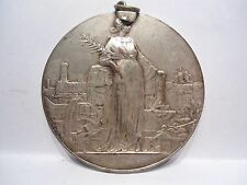 BRONZE ART NOUVEAU MEDAL BY MASSONET - NATIONAL WORK EXPOSITION 1910 CAR. N128