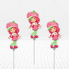 """3 - 14"""" Strawberry Shortcake Birthday Balloons Party Favors Decorations"""