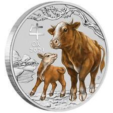 Australien 50 Cents 2021 Jahr des Ochsen   Ox (2.) Lunar III. - 1/2 Oz Silber ST