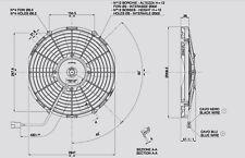 Spal Lüfter Hochleistungslüfter 310mm 1280 cbm h saugend VA09-AP8/C-27A