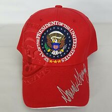 Red 58th Presidential Inauguration Hat Make America Great Again Donald Trump Cap
