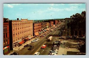 Concord NH, Business District, Main Street, Chrome New Hampshire Postcard