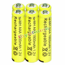 6x AAA battery batteries Bulk Nickel Hydride Rechargeable NI-MH 1800mAh 1.2V Yel