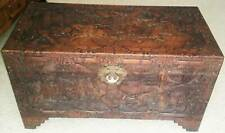Camphor Chest - Large Vintage Carved Wooden Original Oriental Chest