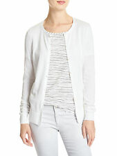 14375 Banana Republic Womens White Forever Cardigan Swearter Sz Medium M $49