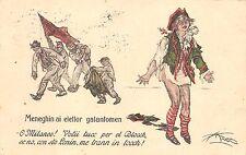 1111) ELEZIONI 1921 MILANO, MENEGHIN AI ELETTOR GALANTOMEN. ILLUSTRATORE MAZZA.