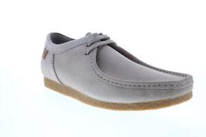 Clarks Shacre 26159430 Mens Gray Suede Oxfords & Lace Ups Plain Toe Shoes
