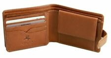 Visconti VCN21 Mens Genuine Leather Bifold Wallet ID Credit Card Holder Tan Gift