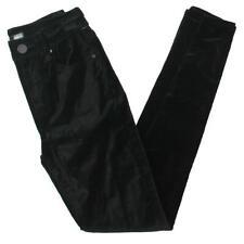 Aqua Womens Black Velvet Ankle Mid-rise SKINNY Jeans 25 BHFO 9600