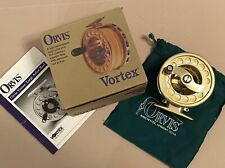 Orvis Vortex 5/6 Fly Fishing Reel Gold, Nib + Fly Line/Backing Made in Usa