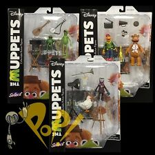 MUPPETS Select Series 1 Set KERMIT Fozzie Scooter Gonzo & More Action Figures!