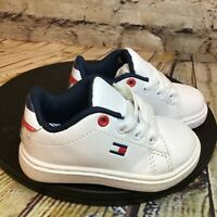 Tommy Hilfiger Little Flag White Baby Shoes Sneakers Size 5 Infant