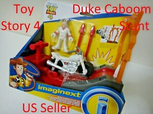 Fisher Price Imaginext Disney Pixar Toy Story 4 Duke Caboom Stunt Set New in Box