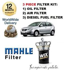 VW POLO 1.4 TDi  07/2005-8/2010 NEW SERVICE KIT OIL AIR FUEL FILTER SET