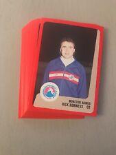 1988-89 Moncton Hawks AHL Complete Set w/ Stephane Beauregard