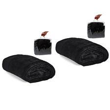 2x Tagesdecke Bettüberwurf Kuscheldecke Sofadecke 220x240 schwarz Tragetasche
