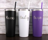 Laser Engraved Name Personalized 22 oz Tumbler-Choose Cup Color and Font