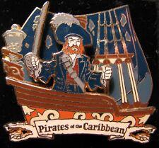 Disney Pirate Captain Barbossa sword Ship Pin NEW