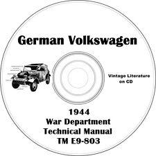 1944  German Volkswagen War Department WWII Technical Service Manual on CD