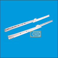 """White 18"""" Roller Drawer Runners Kitchen Bedroom Replacement Slide Glide Metal"""