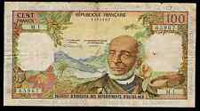 FRENCH ANTILLES - P10a - 100 FRANCS 1964 ISSUE GUADELOUPE GUYANA MARTINIQUE FINE