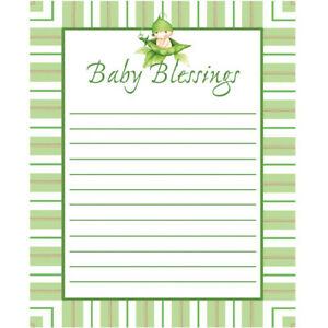 Sweet Pea Baby Shower Advice Cards 8 Pack Paper Baby Shower Games Decorations