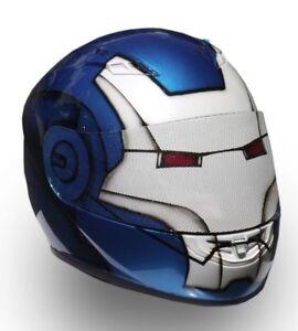 Iron Man Custom Painted Suzuki GSX-R, Hayabusa, ZX14 scheme motorcycle helmet