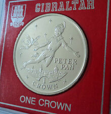 2002 Gibraltar Peter Pan & Tinkerbell Little White Bird Crown Coin (BU) Gift Set