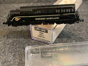 N Scale Life-Like NBL2 Locomotive WM #7906 Western Maryland WMD181