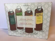 Korres Limited Edition Holiday Fruits Shower Gel Set of 4 x 8.45 oz New in Box