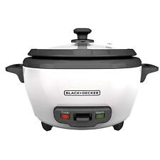 Black+Decker 6-Cup Cooked/3-Cup Uncooked Rice Cooker and Food Steamer, 6-Cup