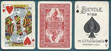 Very Rare USPC Russell Morgan Bicycle 808 Brand Playing Cards Autocycle #1