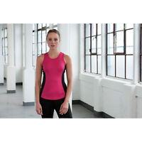 Awdis Just Cool Girlie Contrast Vest Ladies Fitness Gym Exercise Wickable Shirt