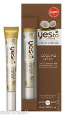 Yes To Coconut Hydrating Cooling LIP OIL Moisturiser For Dry/Chapped Lips 8ml