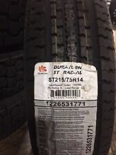 2 NEW ST215/75-14 Duraturn ST Radial Trailer Tires 75R14  2157514