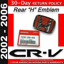 "Genuine OEM Honda CR-V Rear Glass ""H"" Emblem 2002 - 2006 (75701-S9A-000)"