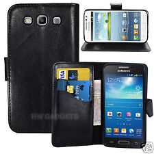 Leather Wallet Flip Case Cover for Samsung Galaxy S3 Mini - FULL BODY PROTECTION