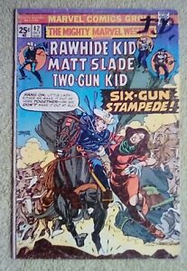 Mighty Marvel Western #42 (Marvel, 11/75) 4.0 VG (Rawhide Kid app.)