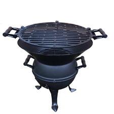 Grillfass aus Gusseisen+Stahl Grill Holzkohlegrill Kohlegrill BBQ Gartengrill