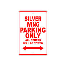 HONDA SILVER WING Parking Only Towed Motorcycle Bike Chopper Aluminum Sign