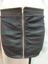 LIP SERVICE Blue Iridescent Front Zipper Skirt NWT Medium