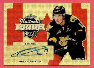 2016-17 Nolan Patrick Leaf Metal National Pride Super Prismatic Auto 1/1 Flyers