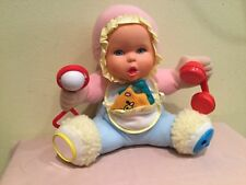 Vintage 1994 Gerber/Toy Biz Plush Baby Doll Activity Toy, Euc