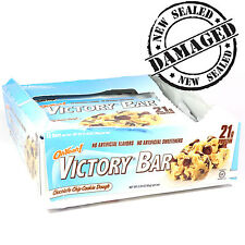 DENTED Oh Yeah! Victory Bar Chocolate Chip Cookie Dough By ISS Research 12 Bars